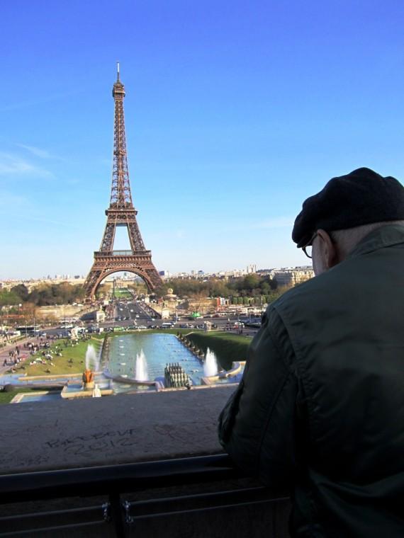 gazing on the Eiffel Tower