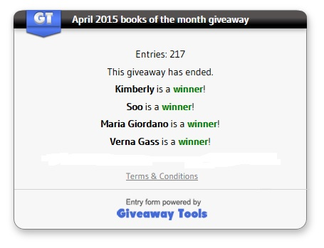 April 2015 winners