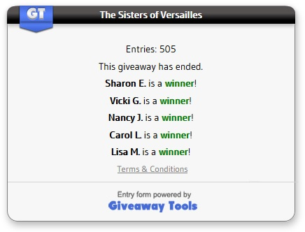 The Sisters of Versailles winners
