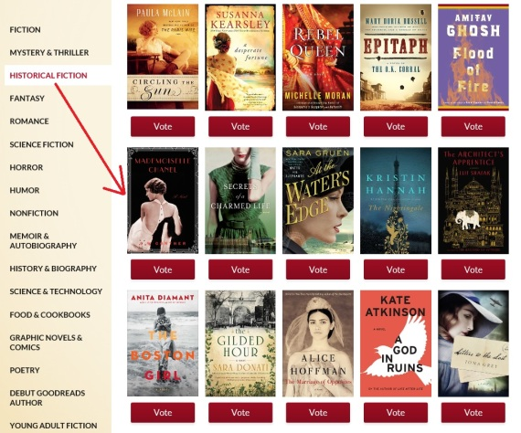 Historical Fiction 2015 Goodreads Nominees