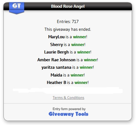 Blood Rose Angel winners