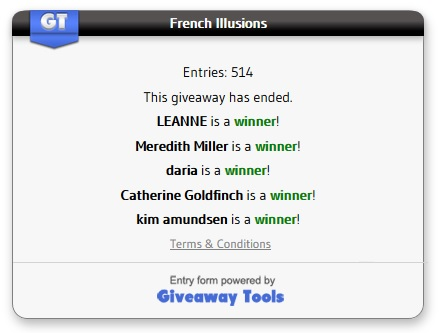 French Illusions winners