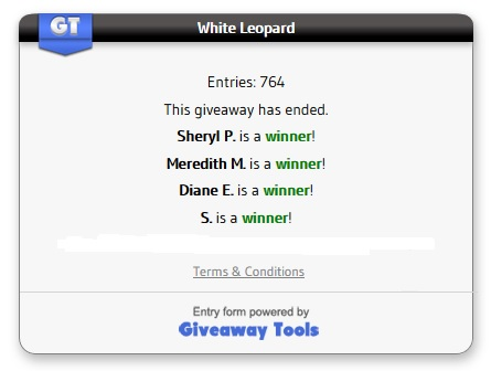 White Leopard winners