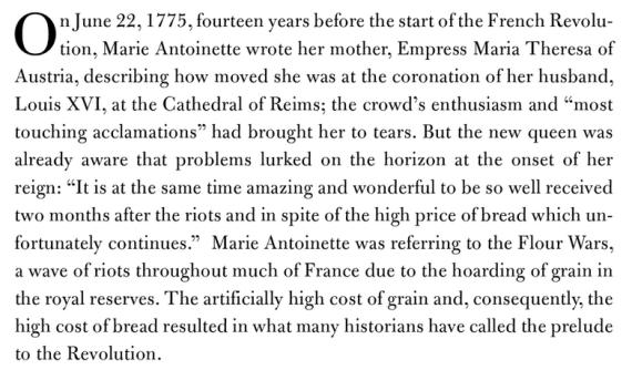 Marie Antoinette's FCFP