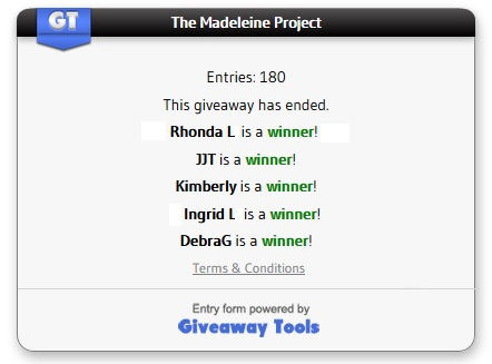 Madeleine Project winner
