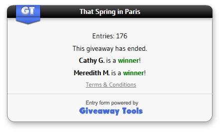 That Spring in Paris winner