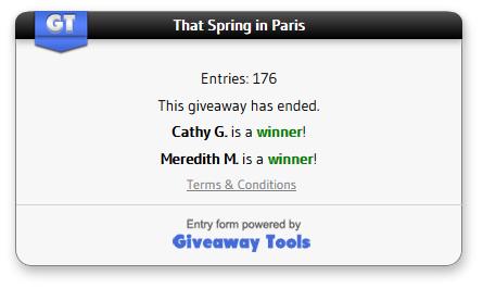That Spring in Paris winner