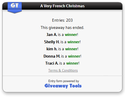 Very French Christmas winners