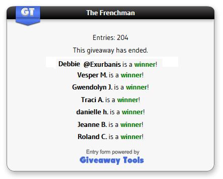 The Frenchman winners