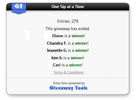 One Sip winners