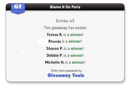 Blame it on Paris winners