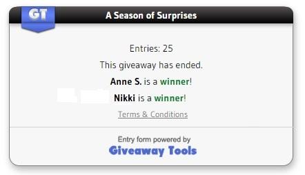 A Season of Surprises winners