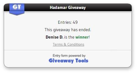 Hadamar giveaway