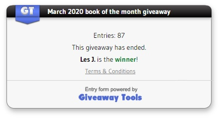 March giveaway winner