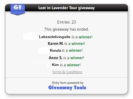 Lost in Lavender winners