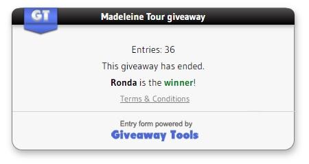 Madeleine Tour Giveaway winner