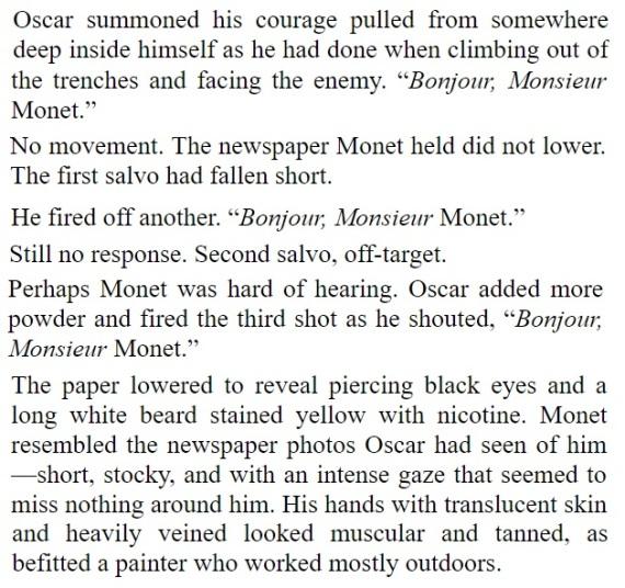 Monet & Oscar Teaser Tuesday