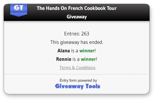 The Hand on French cookbook winners